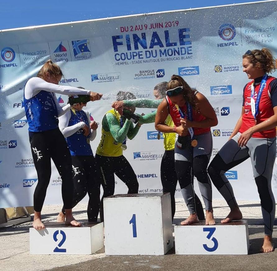 Podium Bossard Compan Word Cup Marseille Célébration