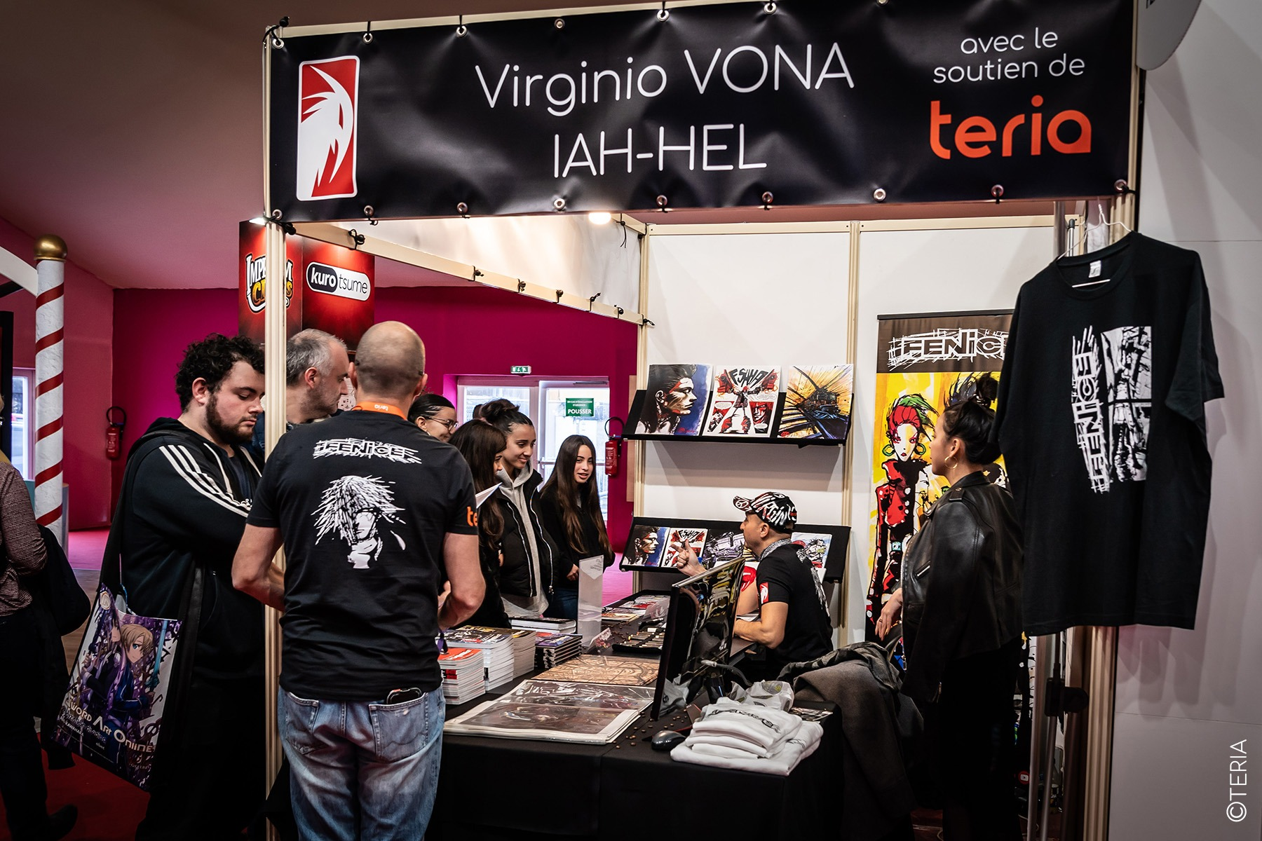 L'artiste Virginio VONA x TERIA au Festival de la bande dessinée d'Angoulême