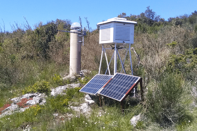 PARD GNSS station of the RESIF-RENAG network, in the municipality of Pardailhan (Hérault)
