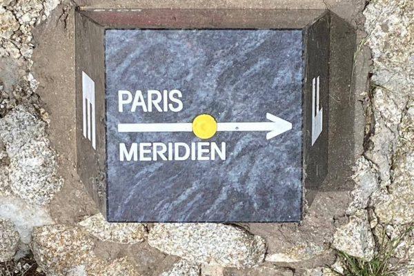 Measurement of the meridian marker of Paris